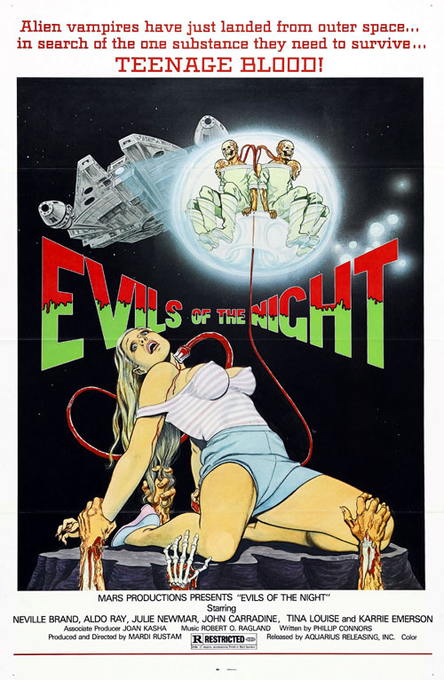 Us poster from the movie Evils of the Night