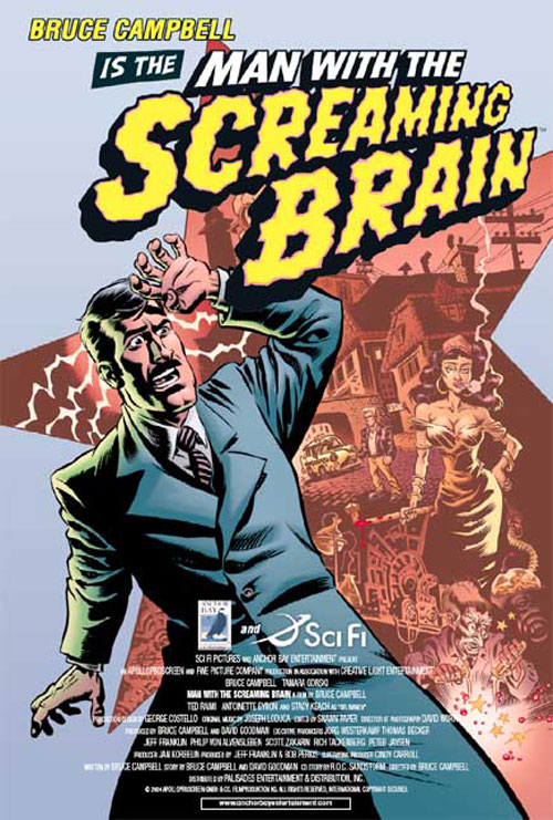 Affiche américaine de 'Man with the Screaming Brain'