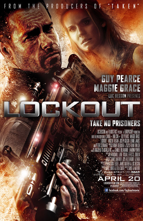 Affiche américaine de 'Lock Out'
