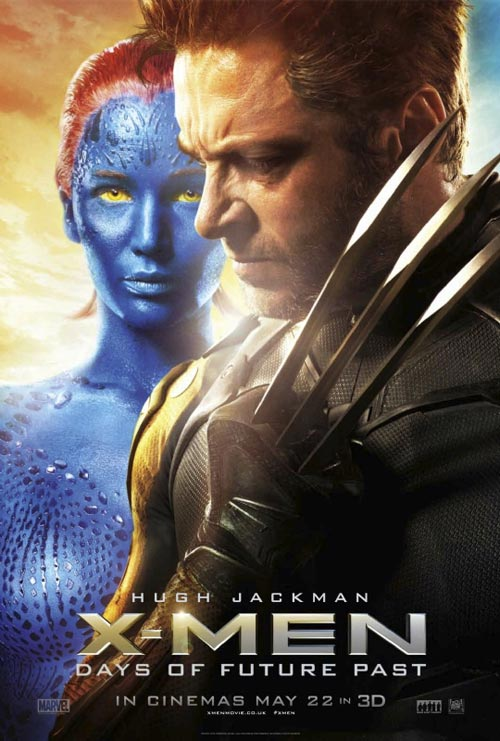 British poster from the movie X-Men: Days of Future Past