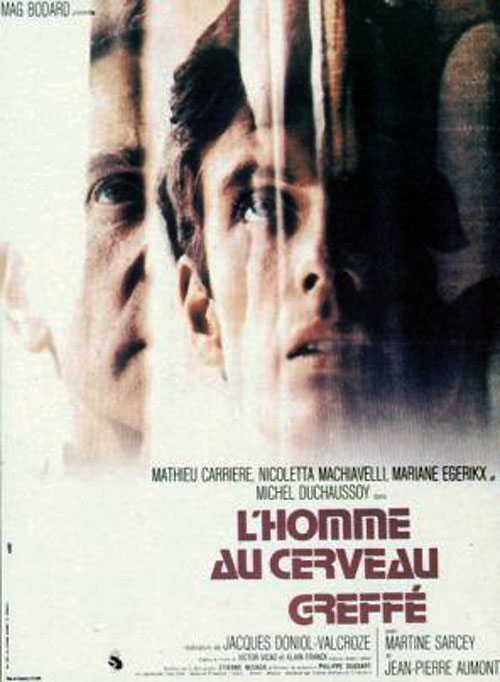 French poster from the movie L'homme au cerveau greffé