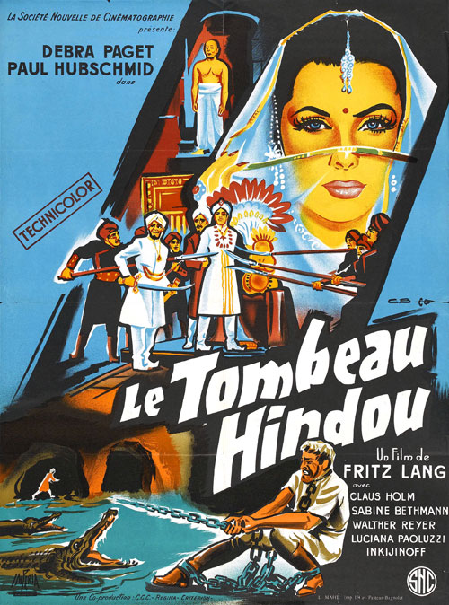 Affiche française du film Le tombeau Hindou (Journey to the Lost City)