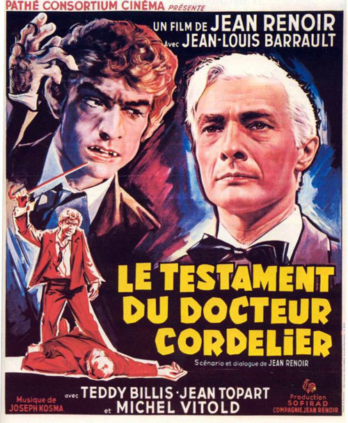French poster from the TV movie The Doctor's Horrible Experiment (Le testament du Docteur Cordelier)
