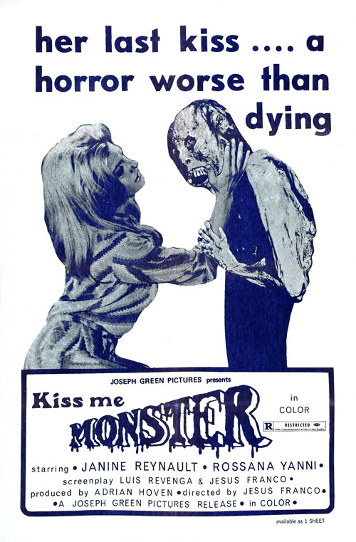 Affiche américaine de 'Kiss Me Monster'