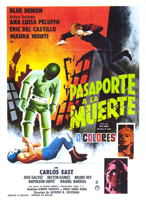 Us poster from the movie Passport to Death (Pasaporte a la muerte)