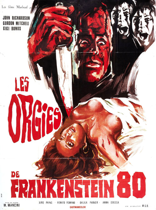 French poster from the movie Frankenstein 80 (Frankenstein '80)