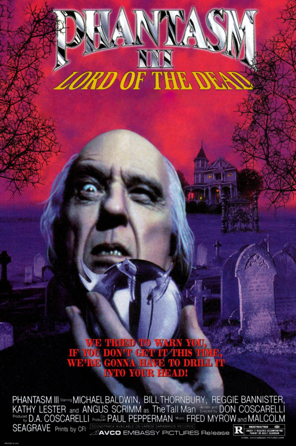 Us poster from the movie Phantasm III: Lord of the Dead