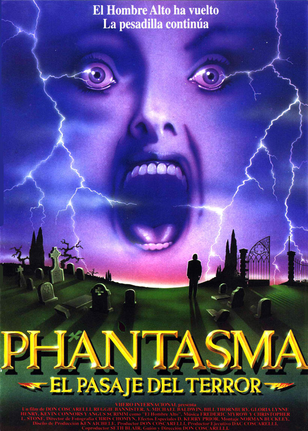 Spanish poster from 'Phantasm III: Lord of the Dead'