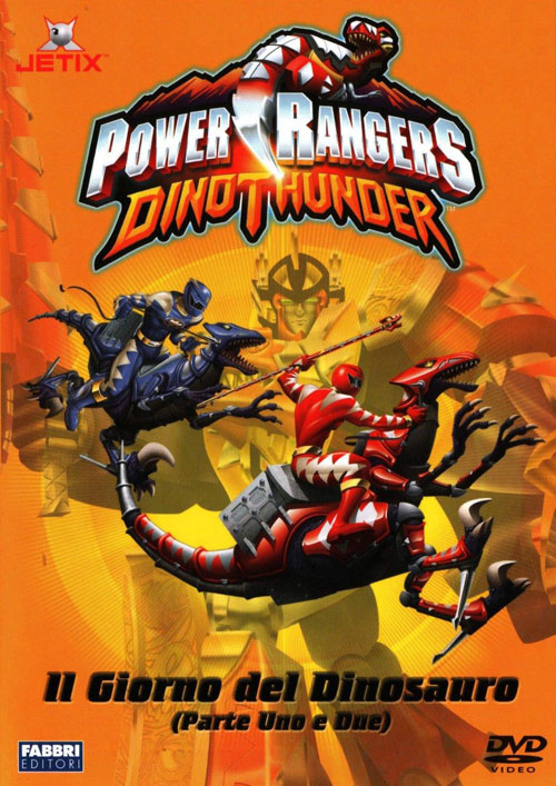 Italian artwork from the series Power Rangers DinoThunder