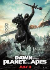 Movie poster from Dawn of the Planet of the Apes, in theaters on July 11, 2014