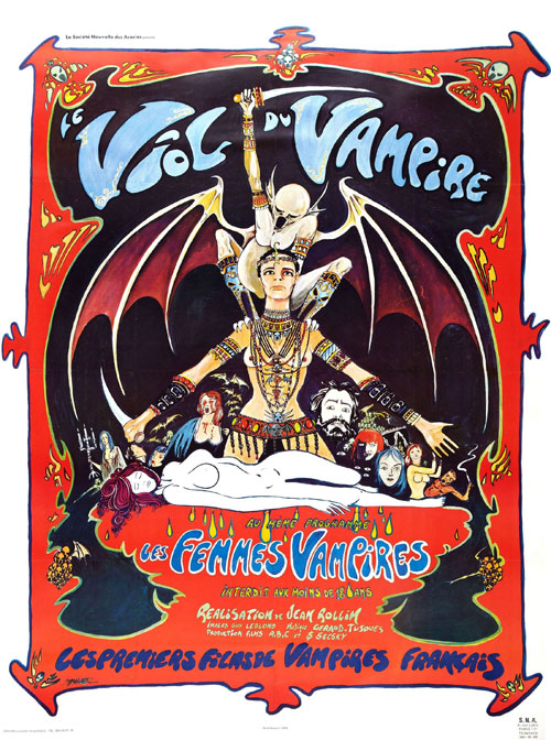French poster from the movie The Rape of the Vampire (Le viol du vampire)