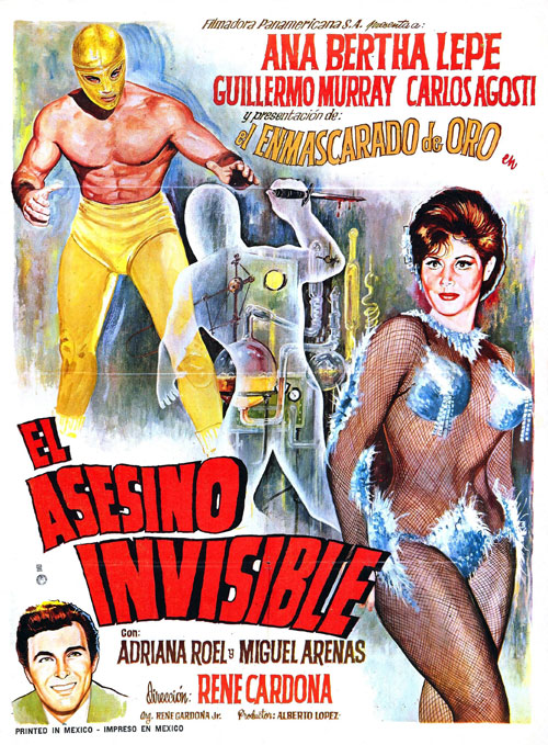 Mexican poster from the movie Neutron Traps the Invisible Killers (El asesino invisible)