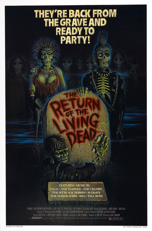 Us poster from the movie The Return of the Living Dead