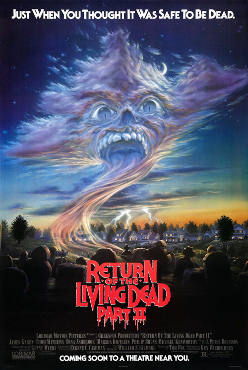 Us poster from the movie Return of the Living Dead Part II