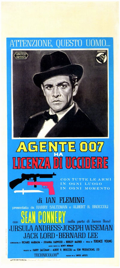 Affiche italienne de 'James Bond 007 contre Dr. No'