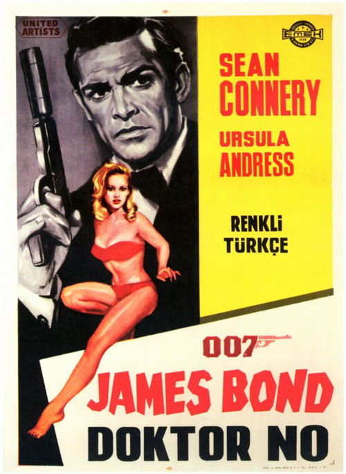 Affiche turque de 'James Bond 007 contre Dr. No'