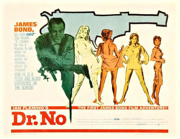 Affiche américaine de 'James Bond 007 contre Dr. No'