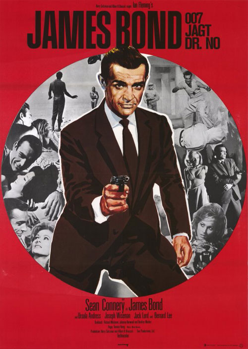 Affiche allemande de 'James Bond 007 contre Dr. No'