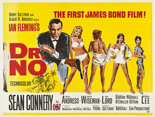 Affiche britannique de 'James Bond 007 contre Dr. No'