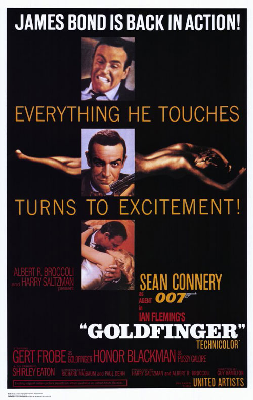 Us poster from the movie Goldfinger
