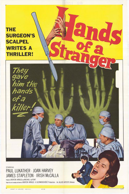Us poster from the movie Hands of a Stranger