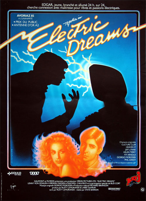 French poster from the movie Electric Dreams