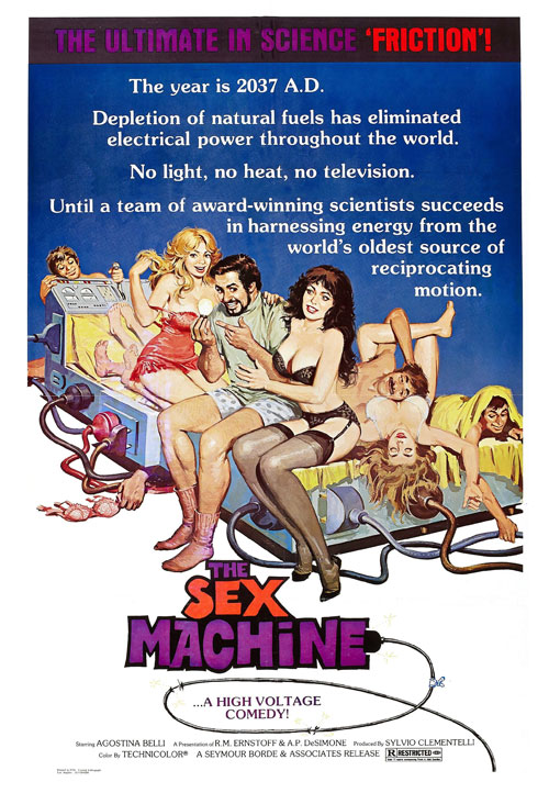 Us poster from the movie The Sex Machine (Conviene far bene l'amore)