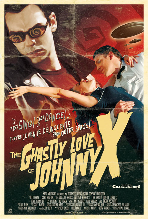 Us poster from the movie The Ghastly Love of Johnny X
