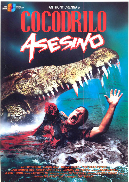 Italian poster from the movie Killer Crocodile
