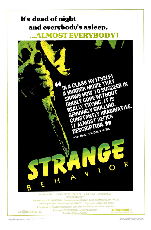 Us poster from the movie Strange Behavior
