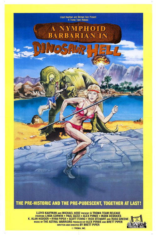 Us poster from the movie A Nymphoid Barbarian in Dinosaur Hell