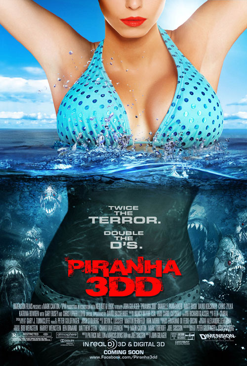 Us poster from the movie Piranha 3DD