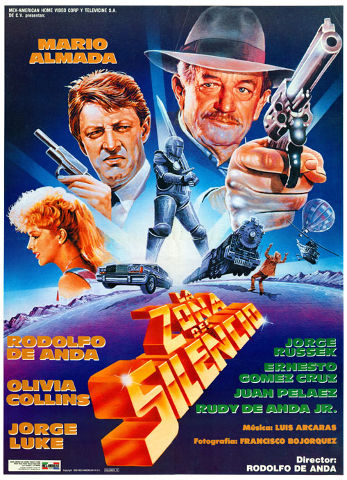 Mexican poster from the movie La zona del silencio