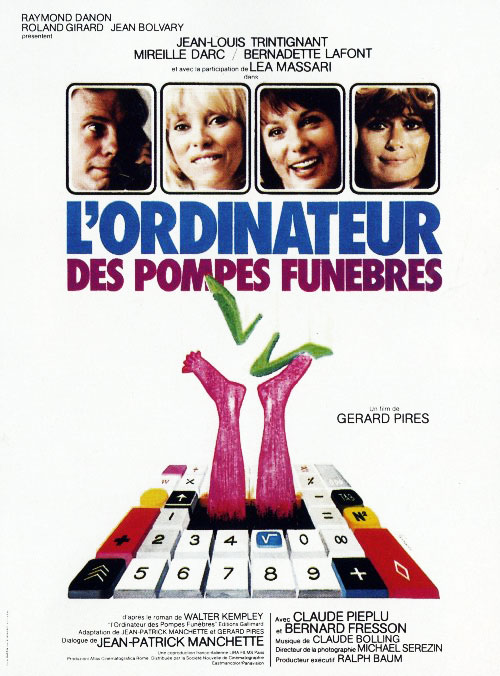 French poster from the movie The Probability Factor (L'ordinateur des pompes funèbres)