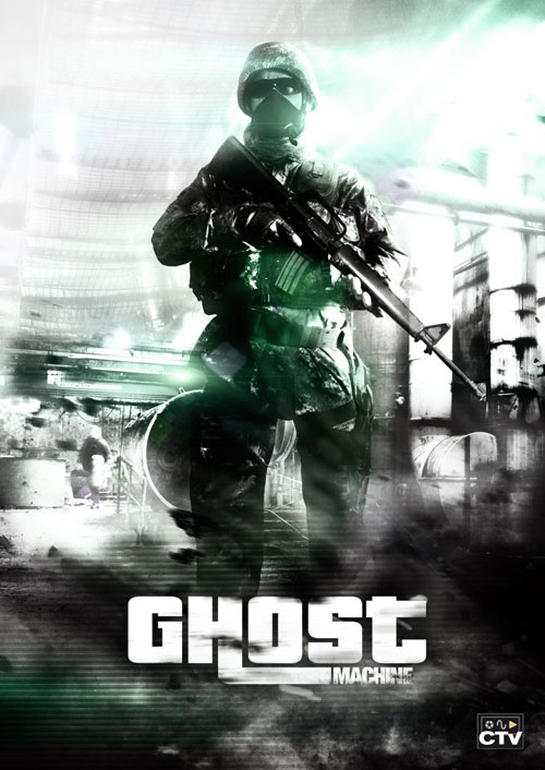 French poster from the movie Ghost Machine