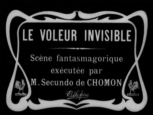 French artwork from the movie Le voleur invisible