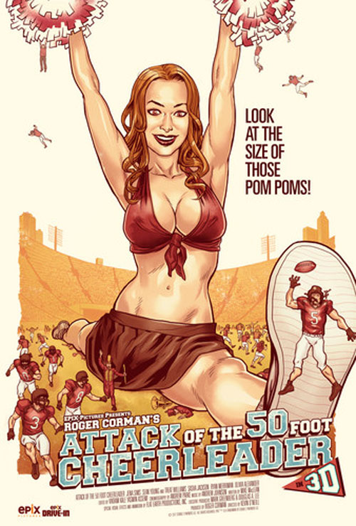 Us poster from the movie Attack of the 50ft Cheerleader