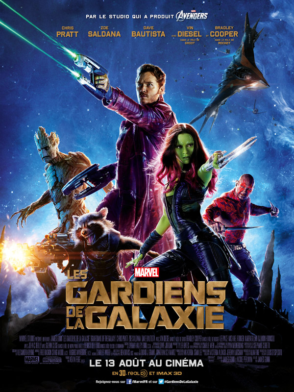 Affiche française du film Les gardiens de la galaxie (Guardians of the Galaxy)