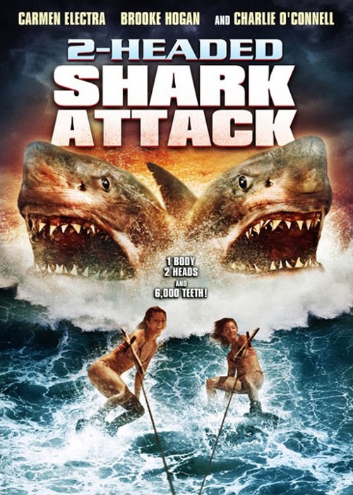 Us artwork from the movie 2-Headed Shark Attack