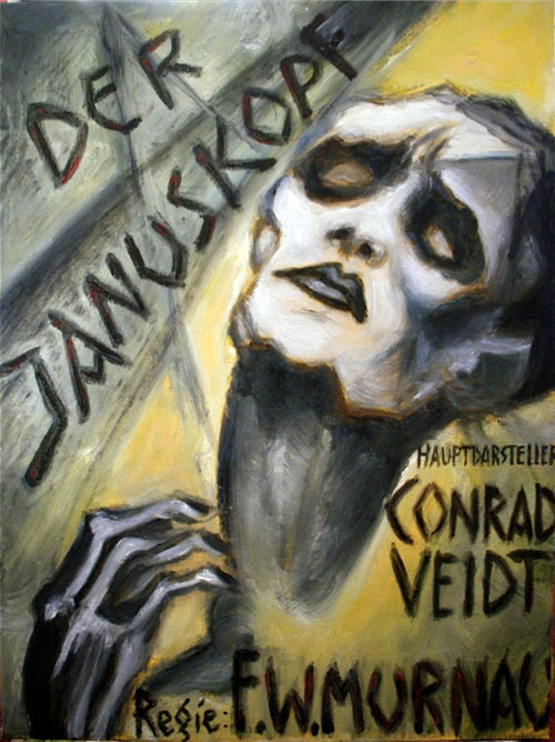 German poster from the movie The Two-Faced Man (Der Januskopf)