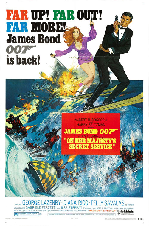 Us poster from the movie On Her Majesty's Secret Service