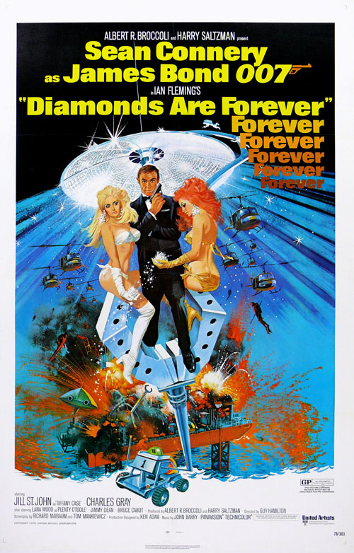 Us poster from the movie Diamonds Are Forever