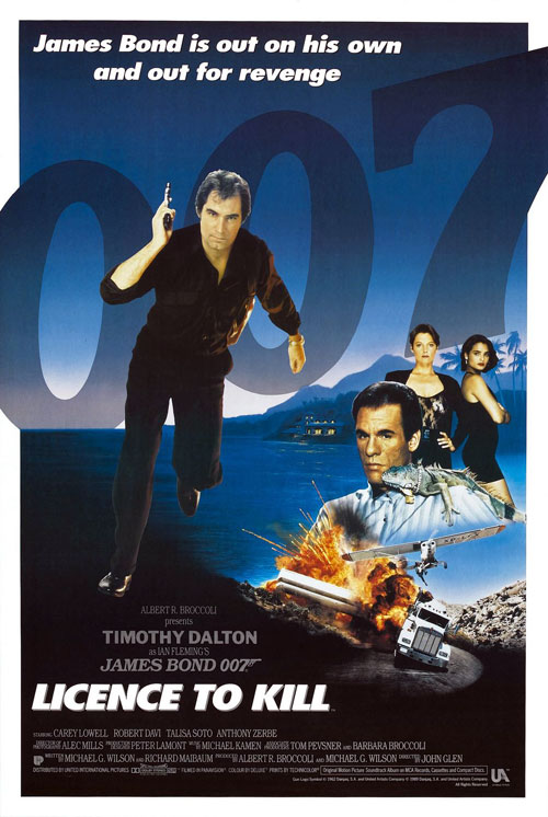 Us poster from the movie Licence to Kill