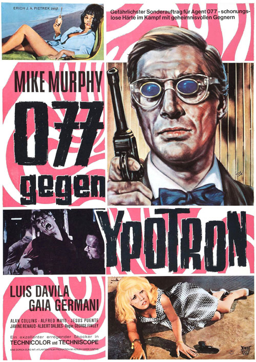 German poster from the movie Agente Logan - missione Ypotron