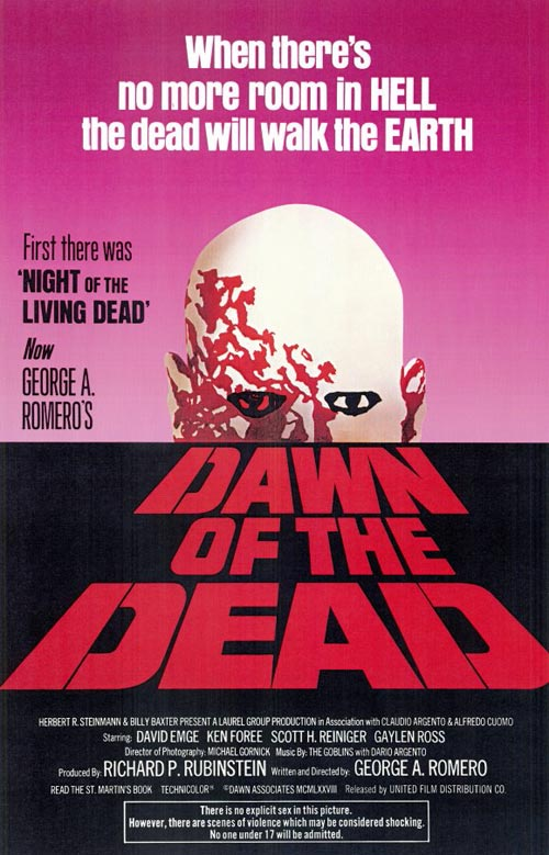 Us poster from the movie Dawn of the Dead