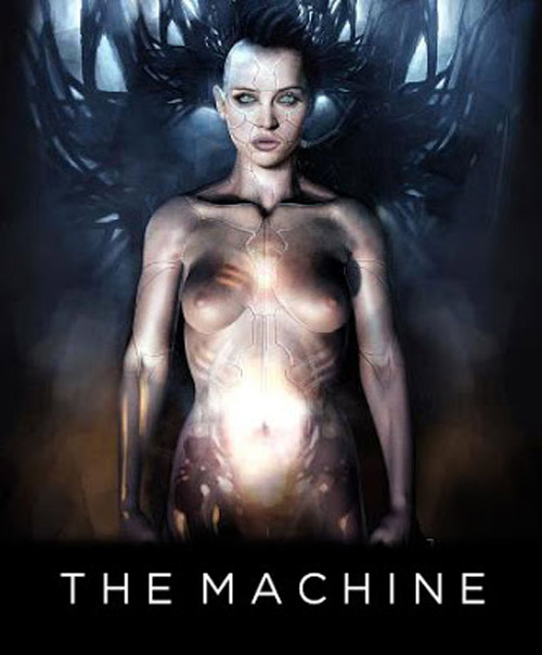 Affiche britannique de 'The Machine'