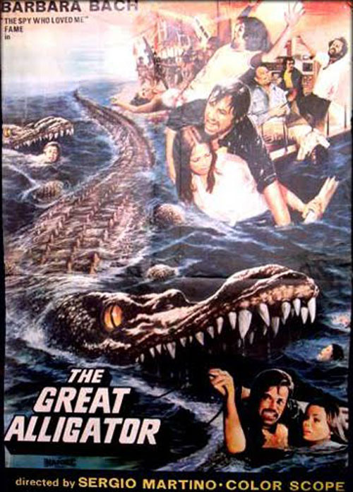 Us poster from the movie The Great Alligator (Il fiume del grande caimano)