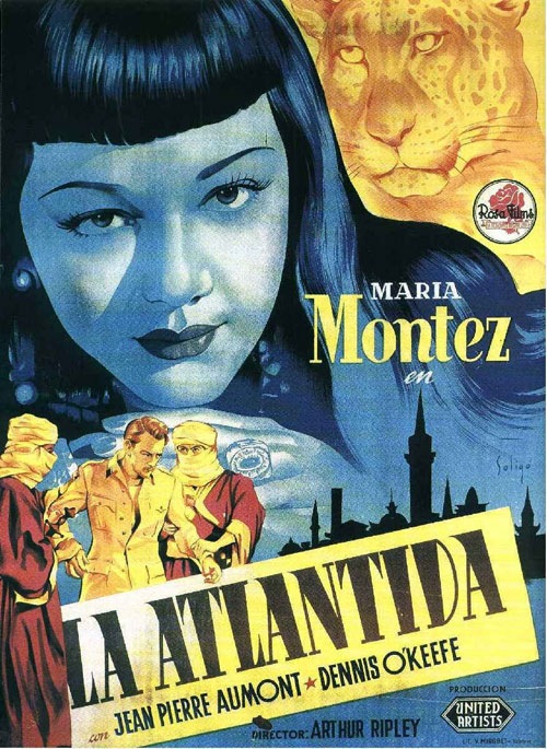 Spanish poster from the movie Siren of Atlantis