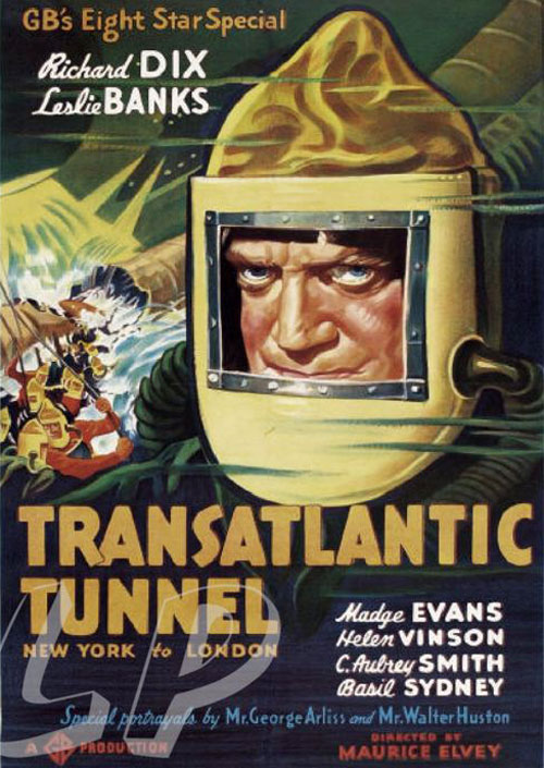Us poster from the movie Transatlantic Tunnel (The Tunnel)