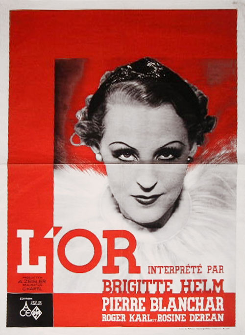 Belgian poster from the movie L'or